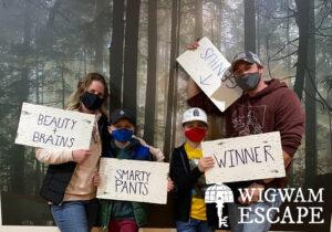 Family Playing WIgwam Escape